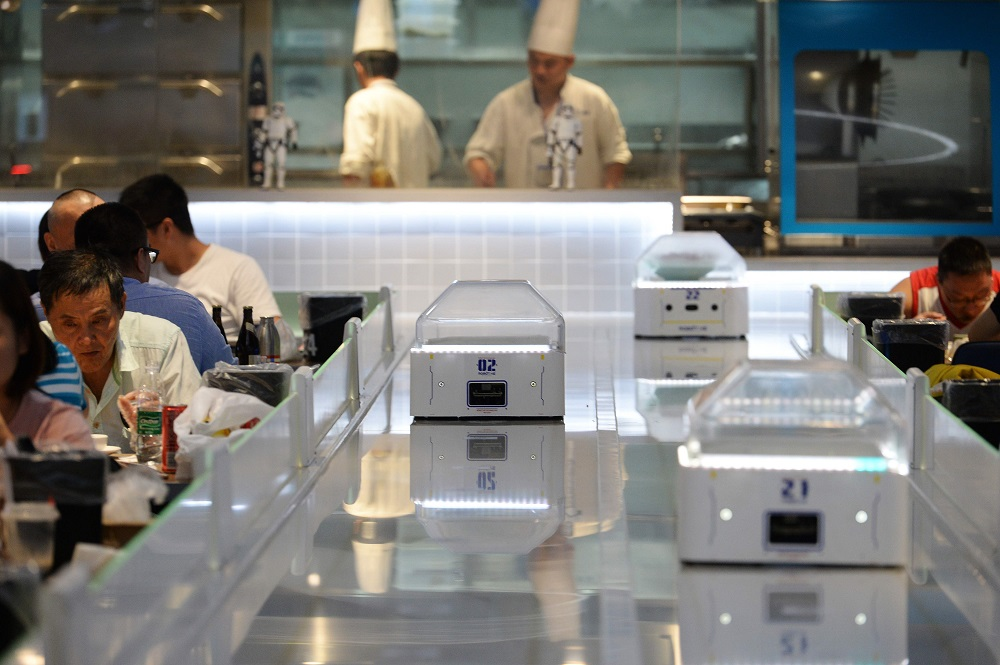 Alibaba's automated Robot.He restaurant